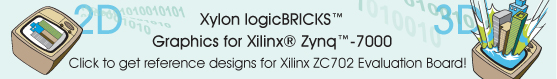 Click to select and get logicBRICKS Reference Design for Xilinx ZC702 Board