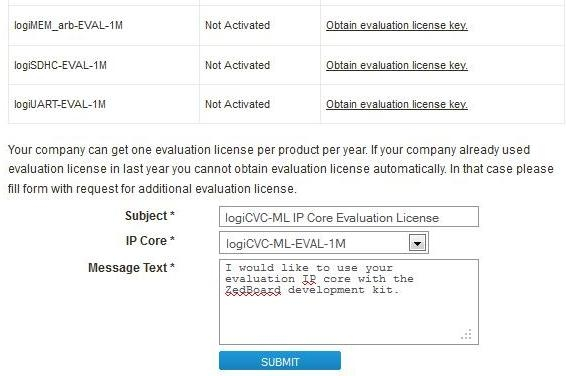 How to Get logicBRICKS Evaluation IP core License