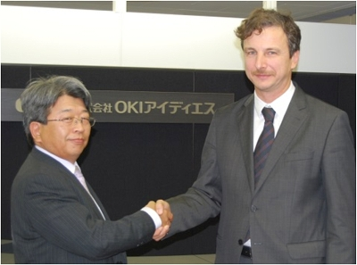 OIDS President Noriaki Anada (left) and Xylon CEO Davor Kovacec (right)