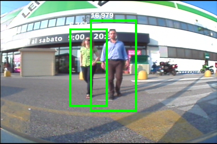 Screenshot from logiPD-LDW Pedestrian Detection Demo
