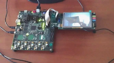 logiREF-ZHMI-FMC reference design - HMI on Xilinx ZC702 evaluation board